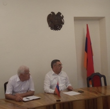 Քննարկում  ՀՀ Վայոց ձորի մարզպետ Հարություն Սարգսյանի մոտ