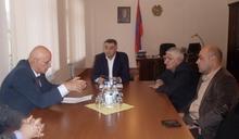 Հանդիպում ՀՀ Վայոց ձորի մարզպետ Հարություն Սարգսյանի մոտ