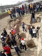 Բացօթյա  էքսկուրսիա Եղեգնաձորի թիվ 1 դպրոցի նախկին սպորտհրապարակում  հայտնաբերված հնագիտական հուշարձանի տարածքում