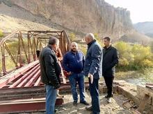 ՀՀ Վայոց ձորի մարզպետ Տրդատ Սարգսյանը ծանոթացել է Արենիի  Հին կամրջի վերանորոգման աշխատանքների ընթացքին