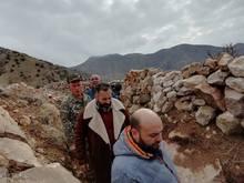 ՀՀ Վայոց ձորի մարզպետ Տրդատ Սարգսյանն այցելել է հայ-ադրբեջանական պետական սահմանում տեղակայված մարտական հենակետ