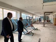 Մարզպետ Տրդատ Սարգսյանն այցելել է Ջերմուկ քաղաքի մարզադպրոցի վերանորոգման աշխատանքների շինհրապարակ