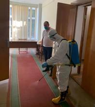 COVID 19-ի  համավարակի հավանական  տարածման կանխարգելման միջոցառումների շրջանակներում կրկին ախտահանման աշխատանքներ են իրականացվել ՀՀ Վայոց ձորի մարզպետարանի շենքում